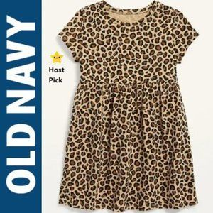 ON Baby Girl Leopard Prnt Fit & Flare Dress 18-24M
